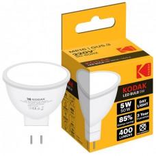 Лампа LED Kodak MR16 GU5.3 5W 220V Дневн.Бел. 6000K Мат. н/Дим.