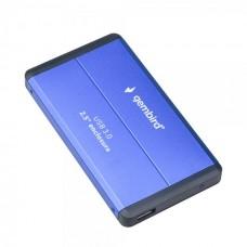 """Зовнішня кишеня для HDD SATA 2.5"""" Gembird EE2-U3S-2-B USB3.0, синій, алюміній"""