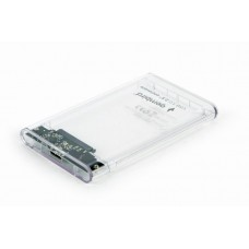 """Зовнішня кишеня для HDD SATA 2.5"""" Gembird EE2-U3S9-6 USB 3.0, прозора"""