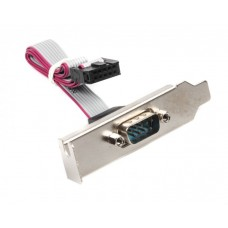 Планка 1 COM порт Cablexpert CC-DB9ML-01 низкопрофильная