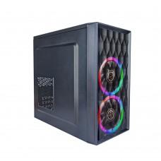 Корпус 1stPlayer D8-M-R1 Color LED Micro ATX, 2xUSB 2.0, без БЖ, Mini-Tower, Чорный