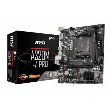 Мат. плата AM4 MSI A320M-A PRO mATX / 2xDDR4 / 1xPCIE3.0x16 / DVI / HDMI