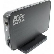 """Внешний карман для HDD SATA 3.5"""" AgeStar 3UB3A8-6G через USB3.0 черный"""
