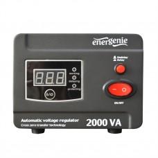 Стабілізатор напруги EnerGenie EG-AVR-D2000-01 2000VA, 1200 Вт, 140-260 В, релейний, однофазний