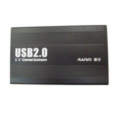 """Внешний карман для HDD SATA 3.5"""" Maiwo K3502-U2S Black USB2.0 на винтах алюм. черный"""