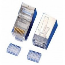 Коннектор RJ-45 cat.6e FTP 8P8C MERLION (RJ45ML-2-50-CAT6-FTP) 10566 екранований, позолочені контакти, для наскрізного підключення, подвійний 50шт
