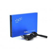 "Зовнішня кишеня для  HDD SATA 2.5"" Voltronic ShuoLe U25E30 Blue USB2.0 алюміній (10241)"
