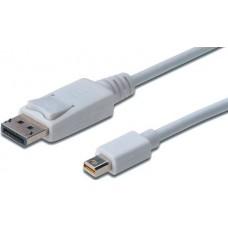 Кабель miniDisplayPort to DisplayPort 1.0м DIGITUS (AK-340102-010-W)