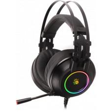 Гарнітура A4-Tech G528C Bloody (Black) USB ігрова Hi Fi, 7.1 віртуальний звук, RGB підсвічування