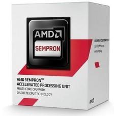 Процесор AM1 AMD Sempron 2650 2 ядра / 1.45ГГц / Radeon R3 (400МГц) / DDR3-1333 / PCIE2.0 / 25Вт / BOX (SD2650JAHMBOX)