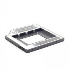 Фрейм-перехідник Gembird HDD 2,5'' SATA2/SATA3 (MF-95-01) 9.5мм для ноутбука у відсік CD-ROM