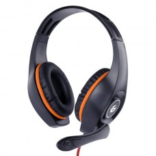 Гарнітура Gembird GHS-05-O Black-Orange Gaming, 2x3,5 jack+ Y cable