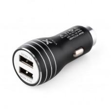 Зарядний пристрій автомобільний Vinga Dual USB Car Charger aluminium 15.5W Max (VCCAABK)