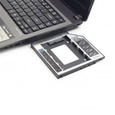 Фрейм-перехідник Gembird HDD 2,5'' SATA2/SATA3 (MF-95-02) 12.5мм для ноутбука у відсік CD-ROM
