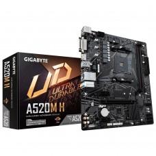 Мат. плата AM4 GIGABYTE A520M H mATX / 2xDDR4 / 1xPCIE3.0x16 / DVI / HDMI / M.2