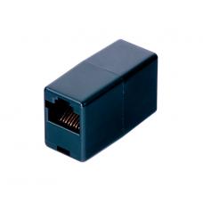 З'єднувач кабеля RJ-45 Merlion 1+1 RJ45 UTP 5e, Black (2xRJ45-BLACK) 18516
