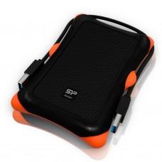 """Внешний жесткий диск 2.5"""" 2TB USB3.0 SILICON POWER Armor A30, резина, черный (SP020TBPHDA30S3K)"""