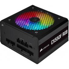 Блок живлення Corsair  550Вт CX550F RGB (CP-9020216-EU) ATX, 120мм, APFC, 7xSATA, 80 PLUS Bronze