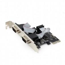 Контролер PCIe - COM 2 ports Gembird (Контролер PCIe - COM 2 ports Gembird (SPC-22) Карта розширення PCI-Express на 2 серійних порти