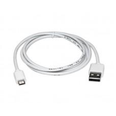 Кабель USB (AM/MicroBM) 0.6м REAL-EL Pro 480 Mbps 2 А білий (EL123500022)