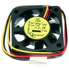 Вентилятор Gembird  40x40x10mm (D40SM-12A) 3 pin, с подшипником скольжения, 12В, 70мм кабель