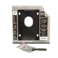 Адаптер для SSD/HDD 2.5'' у відсік привода ноутбука 9.5мм Frime Black/Silver (FHDC950M)