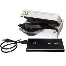 """Зовнішня кишеня для HDD SATA 2.5"""" 1StCharger USB 2.0, Black алюміній (HDE1STU2520B)"""
