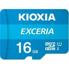 Карта microSDHC  16ГБ UHS-I Kioxia Exceria + SD Adapter (LMEX1L016GG2)