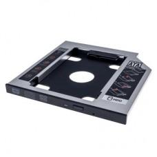 Фрейм-переходник Grand-X HDD 2,5'' SATA2/SATA3 Slim 9,5mm (HDC-24С) для подключения HDD 2.5 '' у відсік ODD