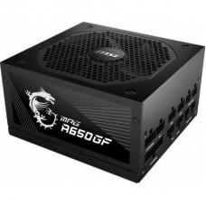 Блок живлення MSI  650Вт MPG A650GF ATX, 140мм, APFC, 8xSATA, 80 PLUS Gold, Module