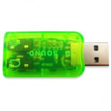 Звукова плата Dynamode USB 6(5.1) green (USB-SOUNDCARD2.0 green)