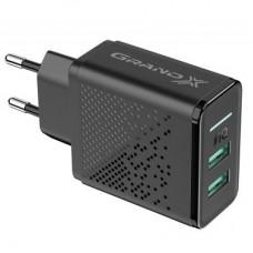 Зарядний пристрій 220V - USB Grand-X CH-60 2xUSB 5V/3.1A (CH-60)