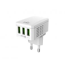 Зарядний пристрій 220V - USB MY-A300 + Micro-Usb Cable, 3xUSB, 5V/17W, Output 5V/3.4A, White (YT-KMY-A300-M) 11470