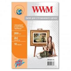 """Фотобумага глянцевая WWM 200g/m2, """"Жемчуг"""",  A4*10 (GP200.10)"""