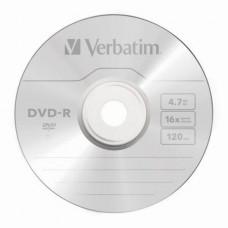 Диск DVD-R Verbatim 4.7Gb 16X Wrap-box MATT SILVER (43788-1) 1шт