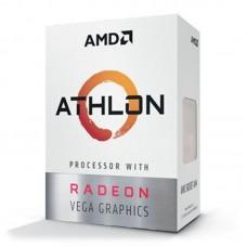 Процесор AM4 AMD Athlon 200GE 2 ядра / 4 потока / 3.2ГГц / 4МБ / Radeon Vega 3 (1000МГц) / DDR4-2667 / PCIE3.0 / 35Вт / BOX (YD200GC6FBBOX)