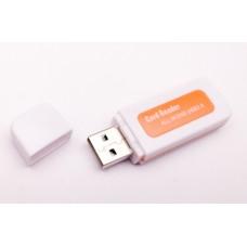 Кардрідер зовнішній USB2.0 MERLION CRD-5BL 4в1 TF/Micro SD Orange 06424