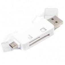Кардридер внешний USB2.0 Viewcon VE 110 w белый