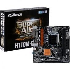 Мат. плата 1151 ASRock H110M-DGS mATX / 2хDDR4 / 1xPCIE3.0х16 / DVI