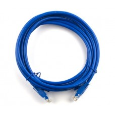 Патч-корд литий  0,5 м RITAR RJ45 UTP кат.5е синій (PCR-CCA/0.5Be) 00210