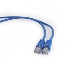 Патч-корд литой  1,0 м Cablexpert RJ45 UTP кат.5е синий (PP12-1M/B)