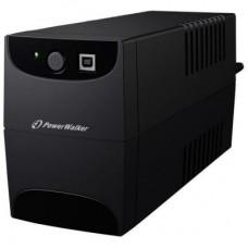 ДБЖ PowerWalker VI 650 SE USB 650VA, 360Вт, 2xSchuko, RJ-45 (10120048)