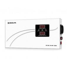 Стабілізатор напруги REAL-EL STAB SLIM-500 500VA, 400 Вт, 140-260 В, релейний, однофазний (EL122400006)
