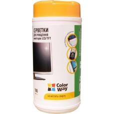 Чистящие салфетки ColorWay для LED/TFT/LCD 100шт (CW-1071)