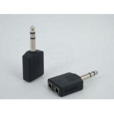 Переходник jack 6.3mm папа/2*6.3mm мама, stereo (09993)