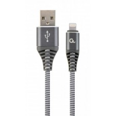 Кабель USB (AM/Lightning) 1.0м Cablexpert (CC-USB2B-AMLM-1M-WB2) преміум, 2.1А