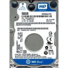 """Жорсткий диск 2.5"""" SATA3   500GB 16MB 5400 WD Blue (WD5000LPCX)"""