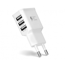 Зарядний пристрій 220V - USB Voltronic СЗУ ADJ-435 110-240V, 3xUSB, 5V/2A, White (ADJ-435) 04129