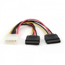 Переходник питания Molex (F/M) - 2 SATA 150 мм Cablexpert (CC-SATA-PSY)