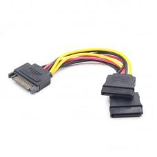 Переходник питания SATA - 2xSATA 0.15m Cablexpert (CC-SATAM2F-01)